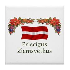 Latvia Priecigus...2 Tile Coaster