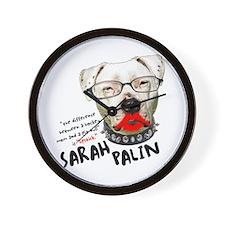 "Sarah Palin ""Pit Bull"" - Wall Clock"