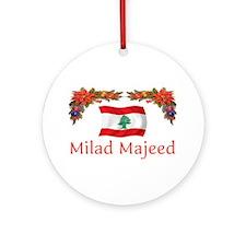 Lebanon Milad Majeed 2 Ornament (Round)