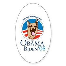 German Shepherds for Obama Oval Decal
