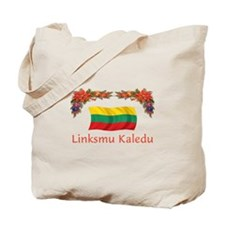 Lithuania Linksmu Kaledu 2 Tote Bag