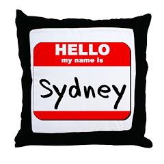 Hello my name is Sydney Throw Pillow