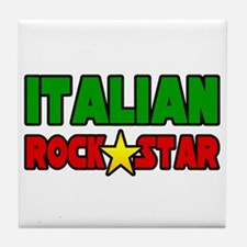 """Italian Rock Star"" Tile Coaster"