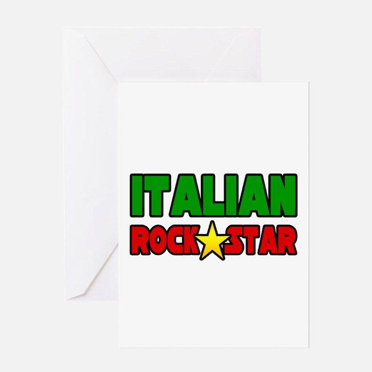"""Italian Rock Star"" Greeting Card"