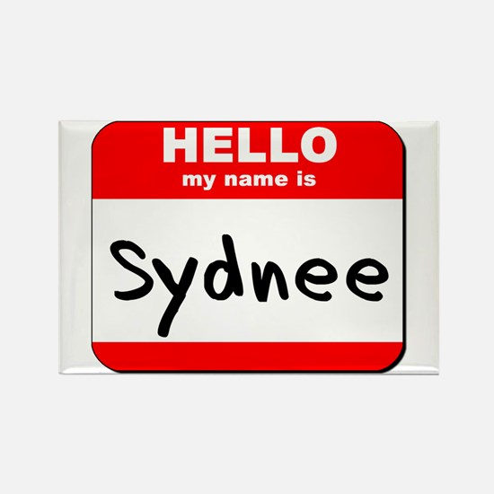 Hello my name is Sydnee Rectangle Magnet