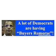 """""""Democrats Remorse"""" Bumper Bumper Sticker"""