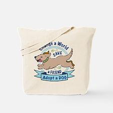 Adopt a Dog Full Color Design Tote Bag