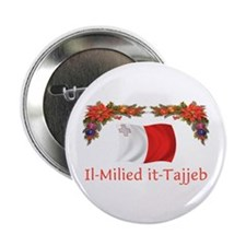 """Malta Il-Milied it-Tajjeb 2 2.25"""" Button"""