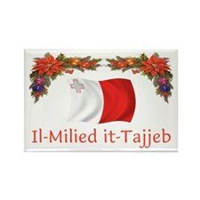 Malta Il-Milied it-Tajjeb 2 Rectangle Magnet