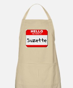 Hello my name is Suzette BBQ Apron