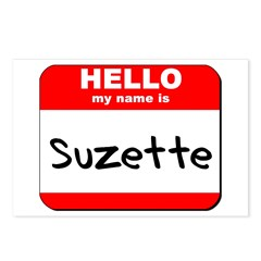 Hello my name is Suzette Postcards (Package of 8)