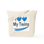 I Love My Twins Tote Bag
