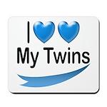 I Love My Twins Mousepad
