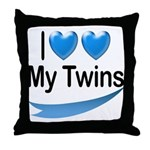I Love My Twins Throw Pillow