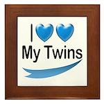 I Love My Twins Framed Tile