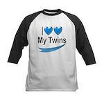 I Love My Twins Kids Baseball Jersey