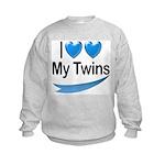 I Love My Twins Kids Sweatshirt