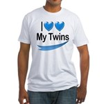 I Love My Twins Fitted T-Shirt