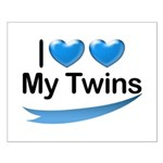 I Love My Twins Small Poster