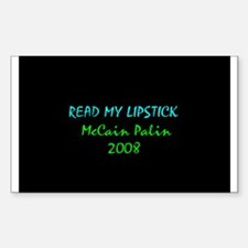 Read my lipstick Rectangle Decal