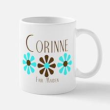 Corinne - Blue/Brown Flowers Mug