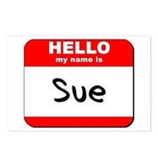 Hello my name is Sue Postcards (Package of 8)