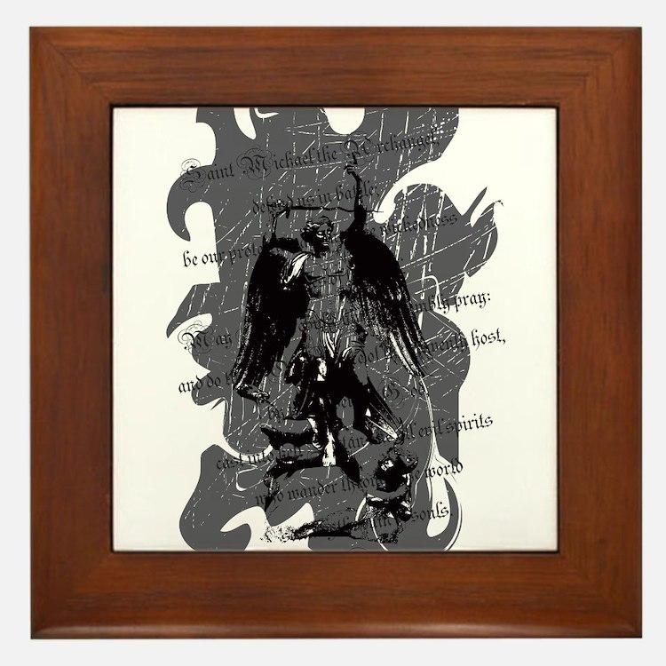 St. Michael: Protection Framed Tile