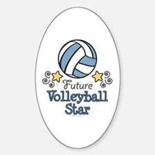 Future Volleyball Star Oval Decal