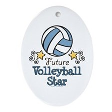 Future Volleyball Star Oval Ornament