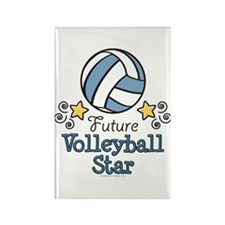 Future Volleyball Star Rectangle Magnet