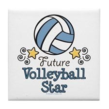 Future Volleyball Star Tile Coaster