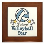 Future Volleyball Star Framed Tile
