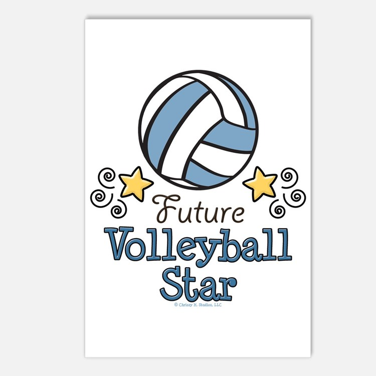 Future Volleyball Star Postcards (Package of 8)
