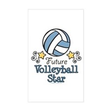 Future Volleyball Star Rectangle Decal