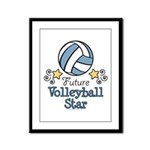 Future Volleyball Star Framed Panel Print
