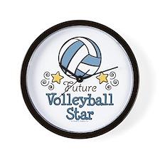 Future Volleyball Star Wall Clock