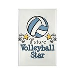 Future Volleyball Star Rectangle Magnet (10 pack)