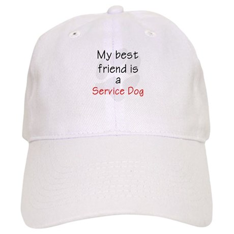 Best Friend is a Service Dog Cap