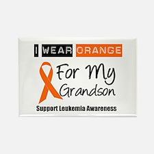 Leukemia I Wear Orange Rectangle Magnet