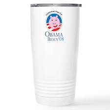 Lipstick on a Pig for Obama Travel Mug