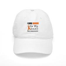 Leukemia I Wear Orange Baseball Cap