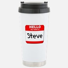 Hello my name is Steve Stainless Steel Travel Mug