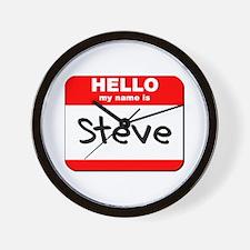 Hello my name is Steve Wall Clock