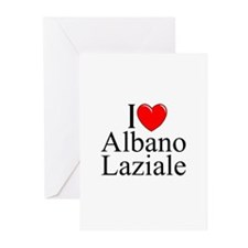 """I Love (Heart) Albano Laziale"" Greeting Cards (Pk"