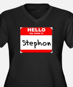 Hello my name is Stephon Women's Plus Size V-Neck