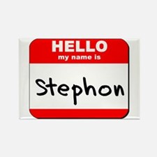 Hello my name is Stephon Rectangle Magnet