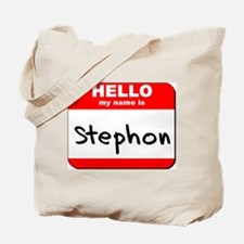 Hello my name is Stephon Tote Bag