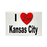 I Love Kansas City Rectangle Magnet (10 pack)