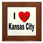 I Love Kansas City Framed Tile