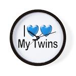 I Love My Twins Wall Clock